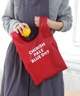 【WEB限定】CHERISH PALE BLUE DOT/エコバッグS
