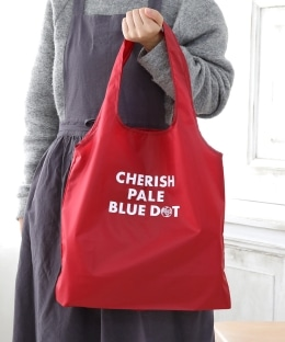 【WEB限定】CHERISH PALE BLUE DOT/エコバッグL