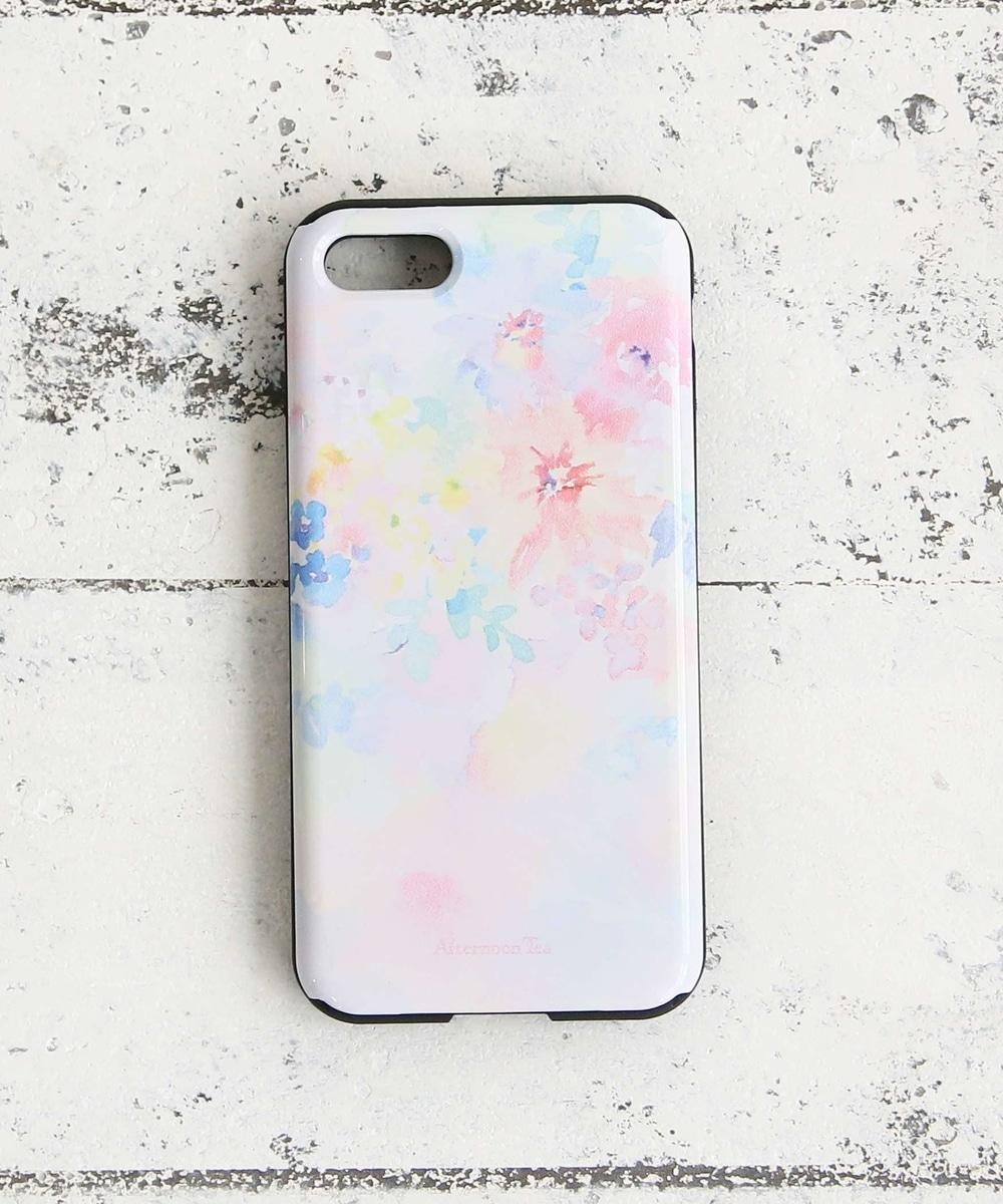 水彩フラワー柄iPhone8/7バンパーケース