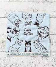 Cat's NapTime/刺繍ミニタオル