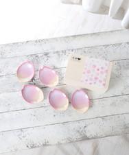 萩焼桜花びら型小皿5枚セット