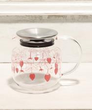 イチゴ茶漉し付き耐熱ポット
