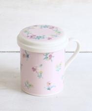 フラワー柄茶漉し付きマグカップ