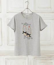 リバティプリント/シューズ柄Tシャツ