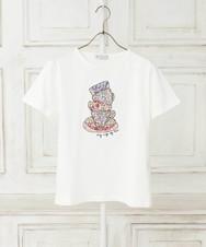 リバティプリント/ティーカップ柄Tシャツ